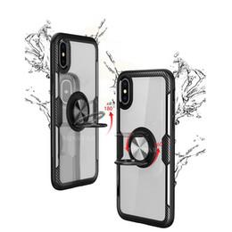 Per iPhone 11 Pro Max XS X XR 8 Nota Caso Phone 7 6 Plus Samsung 10 9 S10 5G S10E S9 A20 Anello di barretta libero della staffa con supporto per auto magnetica da bastone nero della mela fornitori