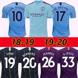 05746285d3c FODEN MAHREZ 19 20 manchester soccer jerseys 2019 2020 city De Bruyne KUN  AGUERO football shirt BERNARDO Camiseta MENDY SANE maillot de foot discount  ...
