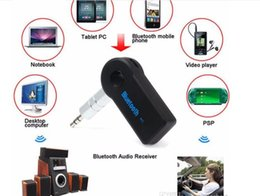 A2dp mora online-Real Stereo Nuovo 3.5mm Streaming Bluetooth Audio Music Receiver Car Kit Stereo BT 4.2 Adattatore portatile Auto AUX A2DP per telefono vivavoce MP3