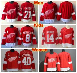 Men Youth Women Detroit Red Wings Jerseys Ice Hockey Man Kids 71 Dylan  Larkin 14 Gustav Nyquist 40 Henrik Zetterberg 8 Justin Abdelkader 0a845d999