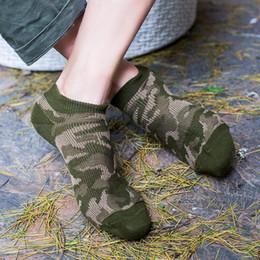 Línea de muelle de barco online-mens calcetines de las mujeres del diseñador calcetín primavera verano nueva marea productos camuflaje retro verano calcetines del barco de los hombres no hay línea