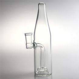 2019 flaschen-tupfen Neue 14mm weibliche bierflasche glas becher bong mit 7,5 zoll dicken berauschenden glas tupfen rigs wasserrecycler bongs für pfeifen rabatt flaschen-tupfen