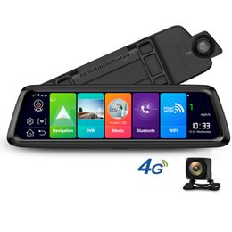 "Espejos de cámara gps online-10 ""Full Mirror 1080P DVR para automóvil Transmisión de medios Retrovisor espejo G-sensor 4G Red global Android Wifi GPS Navigator ADAS Dash Camera"