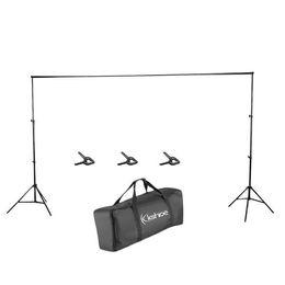 Canada 2M x 3M Support de fond pour fond d'écran vidéo studio de photo vidéo 3 clips de bouche de poisson, système de support pour fond de photographie ajustable et résistant Offre