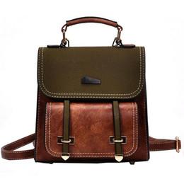 974ffb13b857 British Retro Fashion Women Backpack 2019 New Pu Leather College Wind Girl  School Bag Portable Hit Color Shoulder Bag Travel Bag affordable girls new  ...