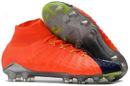 Дешевые гипервеномные утки онлайн-FG футбольные бутсы Hypervenom Phantom III DF обувь neymar IC футбол Мужчины обувь на высоких лодыжках Дешевые