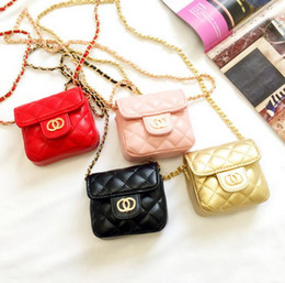 Diseño Niños Cadena Pequeño Messenger Bag Mini Flap Girl Moda Monederos Clutch Caramelo Color Lingge Coreano Cambio Bolsa de dinero desde fabricantes