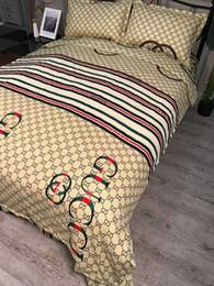 Letra de diseño de la marca Home Bedding Set Sábanas Cama Edredones Set Queen King Sizze ropa de cama Funda nórdica Sábana desde fabricantes