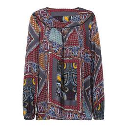2b5807b7863 XXXL 4XL 5XL Plus Size Women Clothing Fashion Loose Blouse Vintage Print  Long Sleeve Casual Oversized Top Chiffon Shirts Female