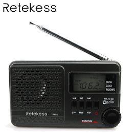 2019 alto-falantes de rádio ds RETEKESS TR601 Rádio Despertador Digital DSP FM AM SW Receptor de Rádio Com Mp3 Player Suporte Cartão Micro SD e Entrada de Áudio USB