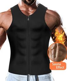 2020 camisolas de alças do workout dos homens Promoções 2019 Men cintura instrutor Vest Weightloss Hot Neoprene Corset Compression suor do corpo Shaper Slimming Sauna alças Workout Shirt camisolas de alças do workout dos homens barato