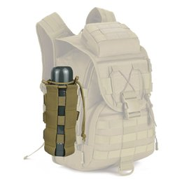 botella táctica molle Rebajas Camping Senderismo Viajes Kits de supervivencia Titular Tactical Water Bottle Pouch Molle System Kettle Bag EKN98