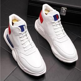 super popular 51354 980a6 Nouveau Haute Blanc Chaussures Hommes Hip-Hop Casual Chaussures De Mode  Décoration Confortable À Lacets Hommes Haute Haut bottes Z31