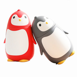 Cute Penguin Rubber Hot Water Bottle with Plush Cover Warm Body Bag 350 ML //12 Oz Light Brown