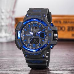 Montre-bracelet pour garçons en Ligne-Montres de sport pour hommes relogio boîte GA100 + G, montre-bracelet chronographe à DEL, montre militaire, montre numérique, bon cadeau pour garçon, homme
