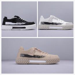 scarpe bianche marrone piattaforma Sconti Scarpe casual da uomo di nuova moda di arrivo Scarpe da scooter da uomo marrone chiaro bianche nere Piattaforma da uomo Scarpe di tela Chaussures all'aperto da uomo