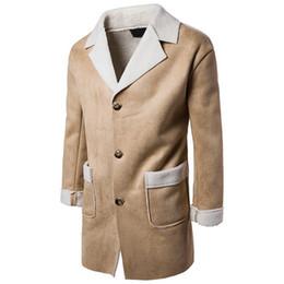 schwarze grabenmänner Rabatt 2019 Mode Männer Herbst Jacke langen Trenchcoat warm verdicken wollenen langen Mantel Qualität schlank schwarz männlich Mantel Windjacke