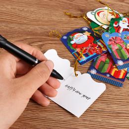 2020 mensajes del arbol de navidad 144 unids Santa Claus Mini Tarjetas de Felicitación Tarjeta de Mensaje de Navidad Tarjeta de Bendición de Navidad Árbol de Navidad Adornos Colgantes lp0142 mensajes del arbol de navidad baratos