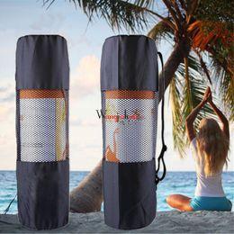 Portante online-Mesh Carrier Bag Zaino impermeabile Yoga Mat Pacchetti Netti Ventilazione cinghia regolabile Ingresso portatile Vendita calda 1 88grf1