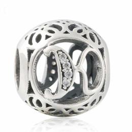 k armbänder Rabatt 2018 neue Authentische 925 Sterling Silber Durchbrochene Buchstabe K Charme Vintage Alphabet Perlen Für Schmuck Machen Fit Ursprüngliche Pandora Armband