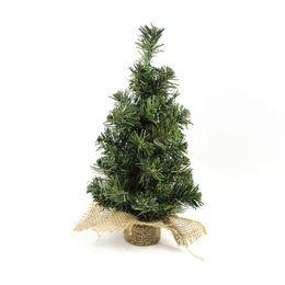 2019 pinheiros indoor Árvore de Natal pequena Para Indoor Tabletop 12 polegadas pinheiro com serapilheira base tal como indicado pinheiros indoor barato