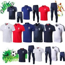 c04c94b6e63b61 2 Sterne Thai 2018 Frankreich Fußball Kurzarm Trainingsanzug Polo Shirt  MBAPPE GRIEZMANN Maillot de Foot Fußball Polo Trainingsbekleidung günstig  polohemden ...