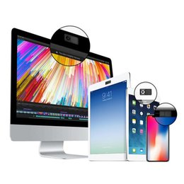 2019 md plastico Ordenador portátil del teléfono móvil deslizante Webcam Privacidad Cubierta de protección Negro