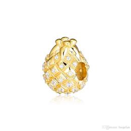 Deutschland 2019 frühling 925 Sterling Silber Schmuck Ananas Glanz Charme Perlen Für Pandora Armbänder Halskette Für Frauen DIY Machen Versorgung