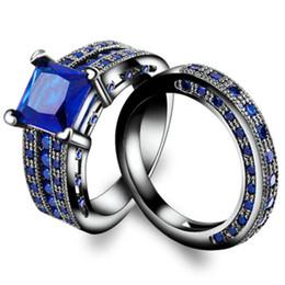 saphir echtes silber Rabatt 2018 Top Qualität Klassische Farbe Silber Schwarz Saphir Ringe Für Frauen Echt Silber Edelstein Hochzeit Schmuck Ring