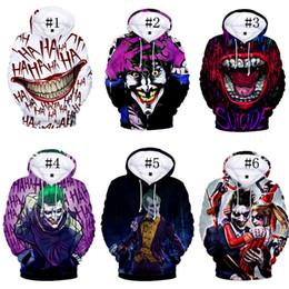 Pano de palhaço on-line-Unisex Pullover Hoodies Joker Rosto Casaco Com Capuz Casacos Streetwear Outono Manga Comprida Com Capuz Pano De Halloween T camisas Da Marca Camisola C73101
