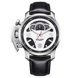Reef Tiger / RT Marca Top Mens Esporte relógios em aço resistente à água Relógios Chronograph Parar Relógios Masculino Relojes RGA2105 de