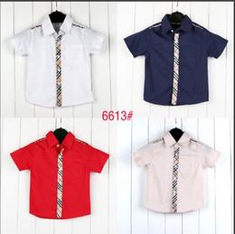 Los niños visten 3 colores de la venta caliente a estrenar del verano camisas de manga corta a cuadros camiseta de la muchacha del muchacho tops algodón camisa de la solapa hermosa envío libre desde fabricantes