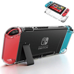 Protection de l'interrupteur en Ligne-Cristal détachable PC Transparent Case Pour Nintendo Nintend Switch NS NX Cas Dur Clair Couverture Arrière Shell Coque Ultra Mince Sac