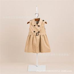 Yeni Sonbahar 2019 Elbise Avrupa ve Amerikan Klasik Kolsuz Kız Hırka Elbise Renkli Tank Elbise cheap european cardigan girls nereden avrupa hırka kızları tedarikçiler