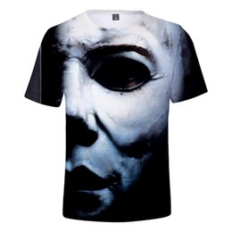 Magliette di film horror online-Michael Myers T Shirt Uomo Donna Bambino Tshirt Halloween Horror Movie