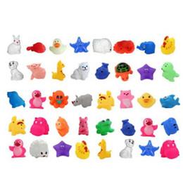 kinder wasser spielzeug fisch Rabatt Cartoon Tier Baden Spielzeug Kawaii Frosch Fisch Tintenfisch Mini Sound Spielzeug Kind Emaille Junge Wasserspielzeug eingeklemmt Cartoon Tierspielzeug