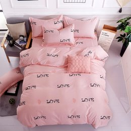 2019 baumwollbettwäsche set kinder zwilling Bettlaken Kissenbezug Bettwäscheset Single Twin Queen King Size Steppdecke Kopfkissenbezug Adult Kids Soft Cotton Bed Linen24 günstig baumwollbettwäsche set kinder zwilling