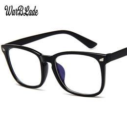 Protección de la computadora online-Ordenador Rayos de luz azul lentes ópticos PC Anti radiación de vidrio Visión Protección de la deformación ocular Mujeres Hombres Gafas Marco WBL