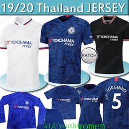 che shirts Coupons - KANTE Thailand CHE jersey Long sleeves PULISIC Soccer Jerseys 2019 2020 Willian DAVID LUIZ Camiseta de football kids shirt
