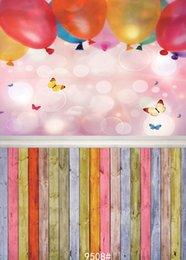 fotografie backdrops bokeh Rabatt Vinylporträtphotographiehintergrund bokeh Ballonschmetterling für neugeborenen Hintergrund photoall Stand-Triebstudio der Babydusche