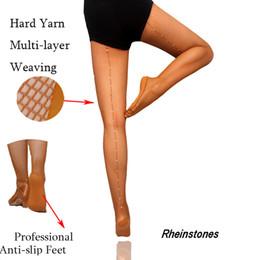 b64d639c65568 Latin Tights Women Professional Fishnet Tights Ballroom&Latin Dance Hard  Yarn Elastic Latin Stockings Rhinestones Pantyhose