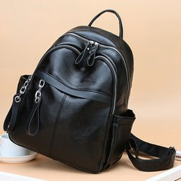 Zaini delle donne dello zaino del progettista più nuovo per le ragazze adolescenti con le borse di Colleage del tessuto dell'unità di elaborazione della doppia chiusura lampo Zaino di viaggio delle signore da sacchetti di tessuto designer per le donne fornitori