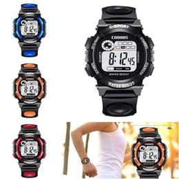 87816ba67ffa 2019 correa de reloj del niño Hombres Digital LED Relojes deportivos Moda  niños casual Relojes de