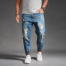02f2e491357 Fashion Hip Hop Harem Jeans Mens Jogger Pants Jeans Cotton Stretch Loose  Denim Trousers Designer Black Blue For Men Jeans Plus Size men harem  fashion jeans ...