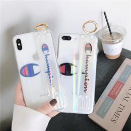 teléfonos baratos Rebajas Carcasa de soporte para funda de iPhone con cuerda de mano Funda de teléfono de TPU suave y transparente para carcasa de Iphone XS X XR 8 Plus Funda protectora anti-konck