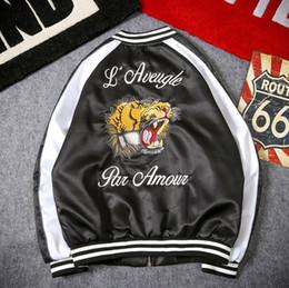 Trasporto di goccia Ricamo giapponese Tiger Bomber cappotto Souvenir Giacca  da baseball Uomo Sukajan Yokosuka Souvenir Streetwear Hip Hop bd073c3f72db