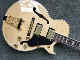 Guitarras eléctricas jazz hollow oem online-Alta calidad más nuevo natural hollow jazz guitarra L5 guitarra China al por mayor OEM jazz guitarra eléctrica VENTA CALIENTE envío gratis