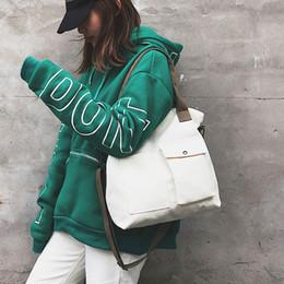 weiße farbe handtaschen Rabatt 35 # Canvas Handtaschen Frauen Männer Einkaufstasche Wiederverwendbare Einkaufstasche Farbe schwarz weiß Taschen Supermarkt Brief Tote Mode Eusable