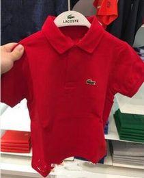 Polo enfant en Ligne-Marque Enfants style garçons filles polo t-shirt Top Crocodile Broderie garçons chemise à manches courtes polos T-Shirts Hot Sales Vêtements Enfant