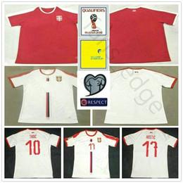 Jérseis de futebol nacionais personalizados on-line-2018 Nacionais Sérvia World Cup Jerseys 9 MITROVIC 10 TADIC 11 Kolarov 20 SERGEJ 21 MATIC personalizado da casa do futebol Vermelho da camisa do futebol
